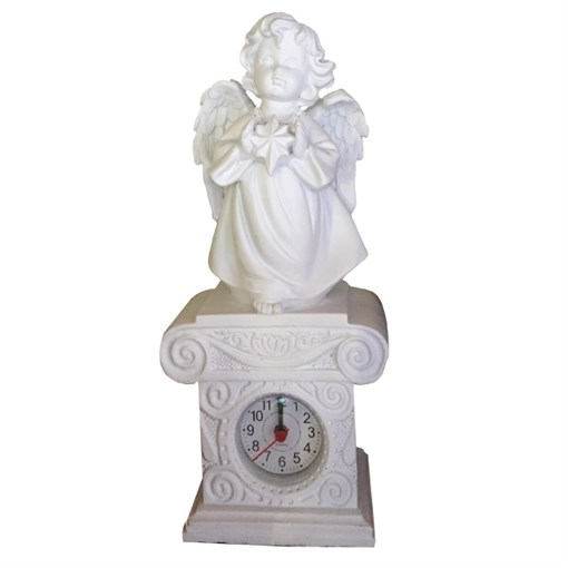 Часы настольные Ангелочек со звездочкой цвет: белый Н25.5 см - фото 68366