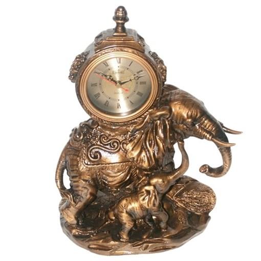 Часы настольные Слон L23W14H31 см - фото 68367