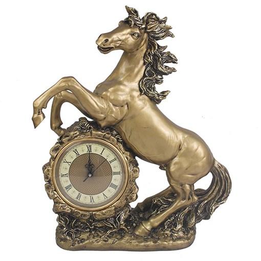 Часы настольные Конь цвет: золото L39W17H51 см - фото 68368