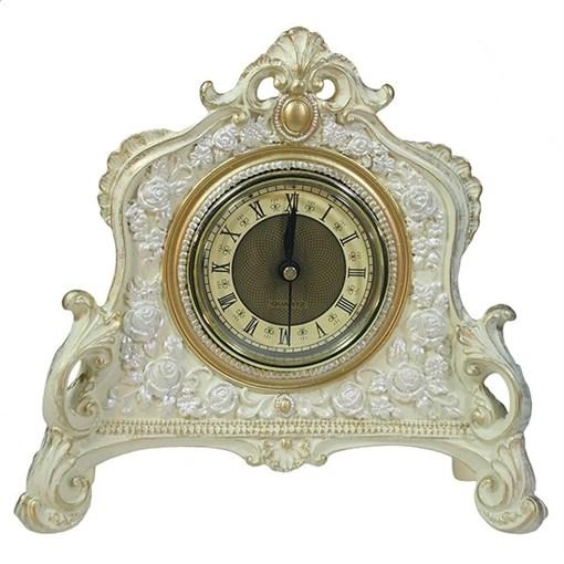 Часы настольные цвет: слоновая кость-золото L21W6.5H19 см - фото 68371