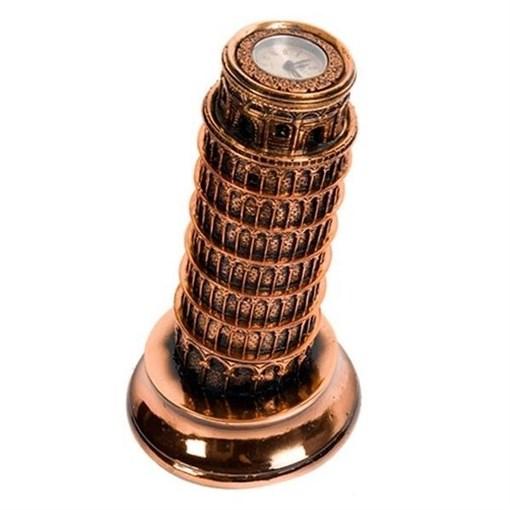 Часы настольные Пизанская башня L14.5W14.5H26.5 см - фото 68373