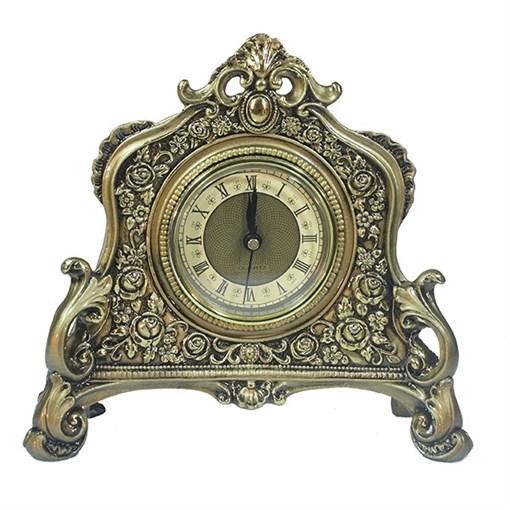Часы настольные цвет: золото L21W6.5H19 см - фото 68375
