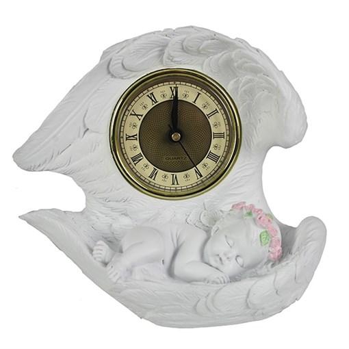 Часы настольные Ангел цвет: белый L20W10H18 см - фото 68376
