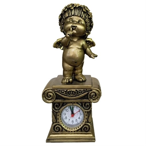 Часы настольные Ангел цвет: сусальное золото Н25.5 см - фото 68381