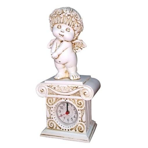 Часы настольные Ангел цвет: антик Н25.5 см - фото 68393
