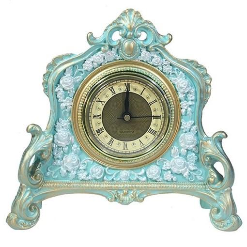 Часы настольные цвет: бирюзовый L21W6.5H19 см - фото 68397