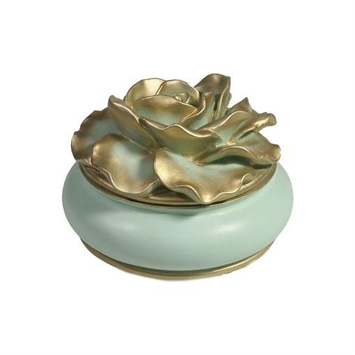 Шкатулка для украшений цвет: бирюзовый L13W13H9 см - фото 68503