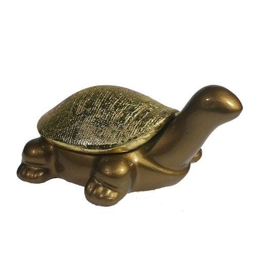 Шкатулка для украшений Черепаха цвет: темное золото L8.5W13H12.5 см - фото 68510