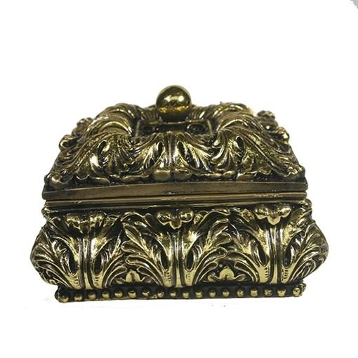 Шкатулка для украшений цвет: золото L14.5W14.5H9.5 см - фото 68511