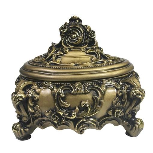 Шкатулка для украшений цвет: золото L16W13H14 см - фото 68512