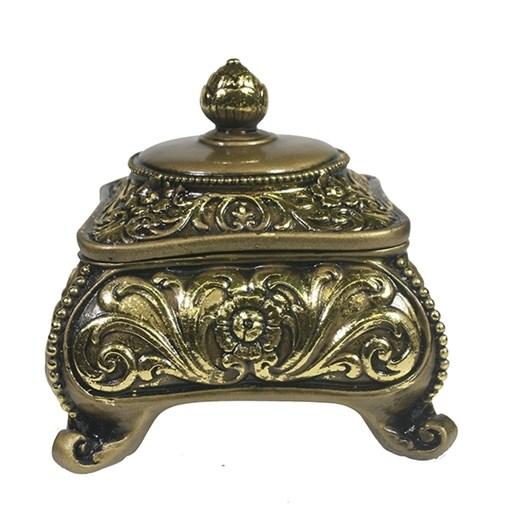 Шкатулка для украшений цвет: золото L13W13H13 см - фото 68515