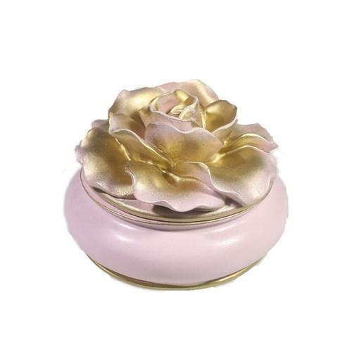 Шкатулка для украшений цвет: розовый L13W13H9 см - фото 68516