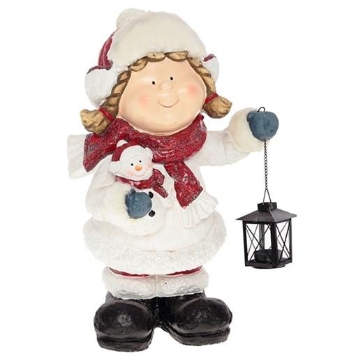 Фигура декоративная Девочка с фонарем L29W26H52см - фото 68662