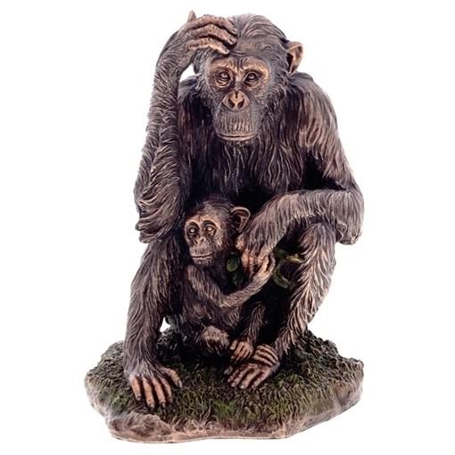 Фигурка декоративная Обезьяна с детенышем Что тебе подарить? H18.5см - фото 68669