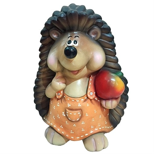 Фигура декоративная Ежиха с яблоком H38 см. - фото 68672