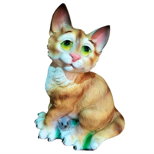 Фигура декоративная Кот задумчивый L17 W17H25 см. - фото 68740