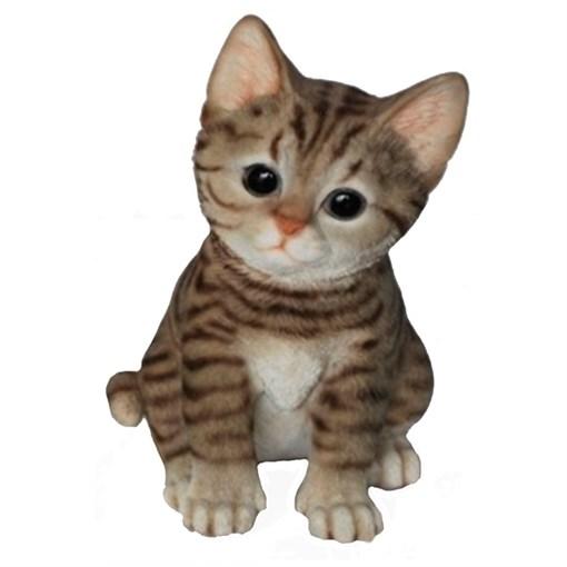 Фигура садовая Полосатый Котёнок L14W12H20 см. - фото 68748