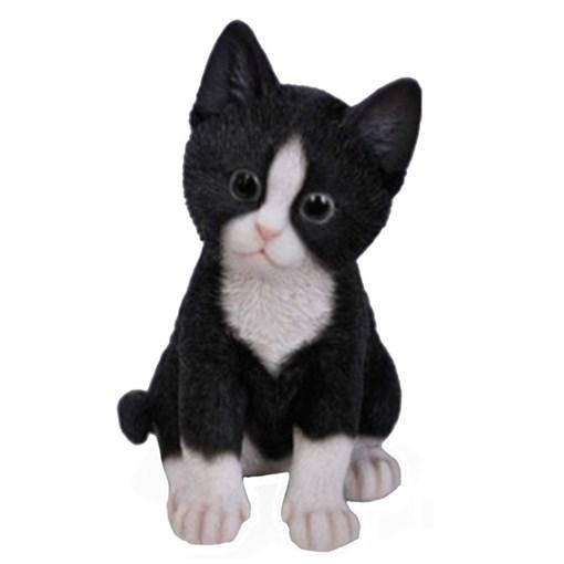 Фигура садовая Котёнок чёрно-белый L14W12H20 см. - фото 68749