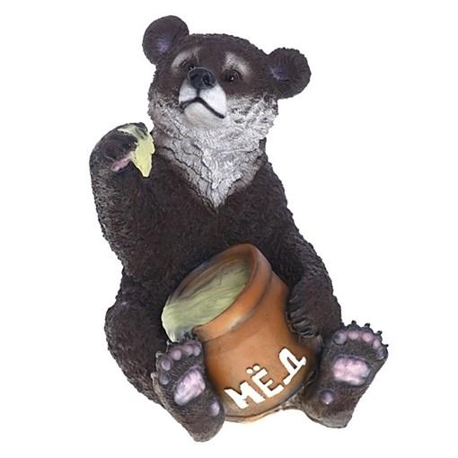 Изделие декоративное Медведь с медом L32W44H50.5 см. - фото 68773
