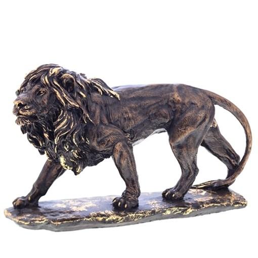 Фигура декоративная Лев большой №2 сусальное золото L39W16H24 см. - фото 68803