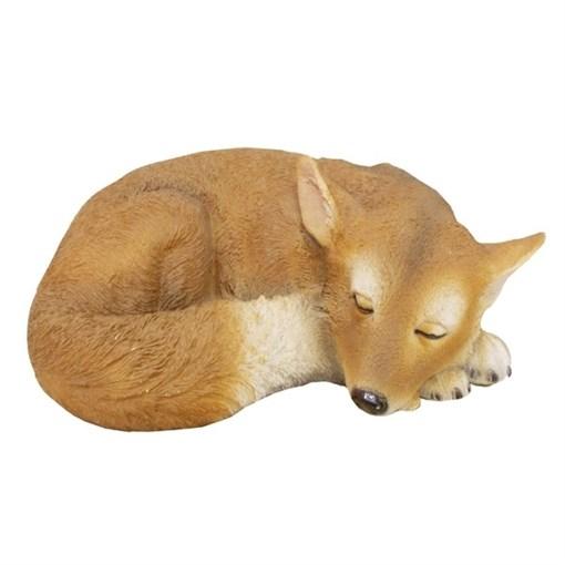 Фигура садовая Лисичка спящая L30W21H10 см. - фото 68814