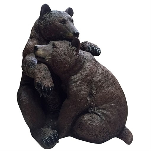 Фигура декоративная Медведи обнимаются L53W32H52 см. - фото 68818