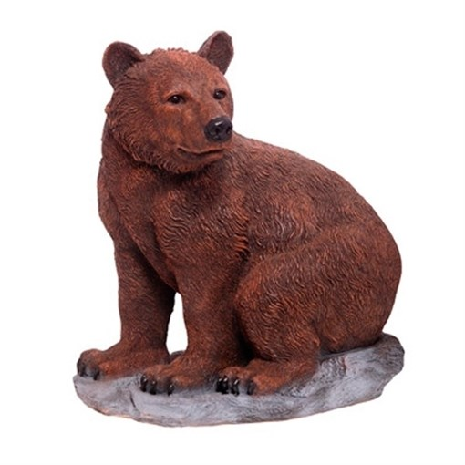 Фигура садовая Медведь на камне L52W28H57 см. - фото 68839
