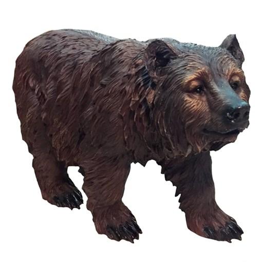 Фигура садовая Медведь бурый на ногах L60W22H36 см. - фото 68841