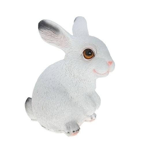 Фигура декоративная Мини зайка белый L9.5W13.5H15 см. - фото 68846