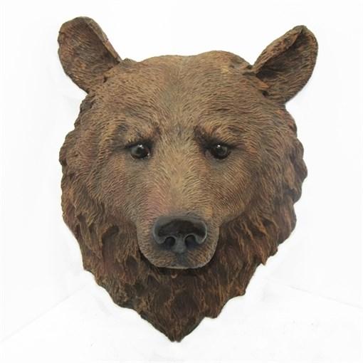 Фигура садовая Голова медведя L34W23H42 см. - фото 68881