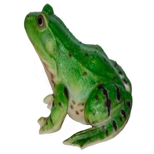Фигура садовая Лягушка зеленая L20.5 W17.8H13.5 см. - фото 68888