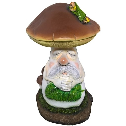 Фигура декоративная Боровик с куколкой L27W36H36 см. - фото 68983