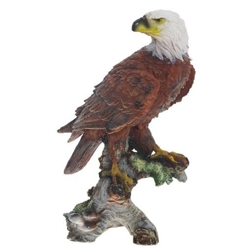 Фигура садовая Орел на коряге H32 см. - фото 68995