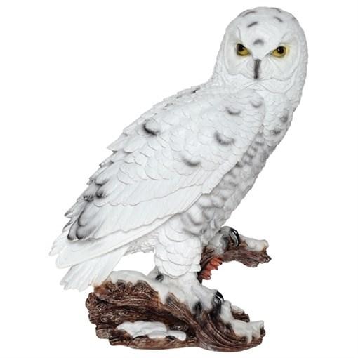 Фигура декоративная Сова полярная L30 W17 H41 см. - фото 69007