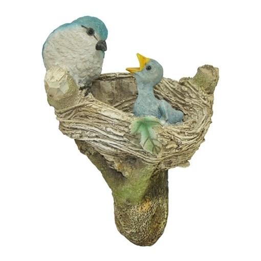 Фигура садовая навесная Птицы в гнезде L12.5W14H23.5 см. - фото 69037