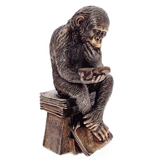 Фигурка декоративная Обезьяна Гигант мысли  L15.5W13H26см - фото 69163