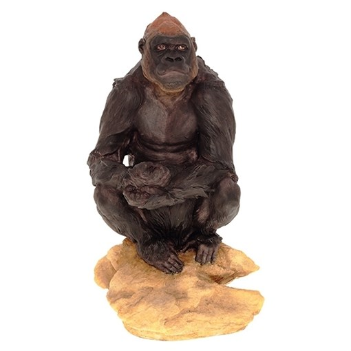 Фигурка декоративная Орангутан на камне L18W14H32см - фото 69167