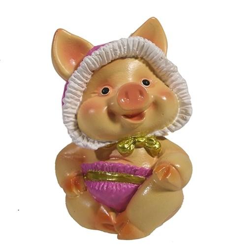 Фигура декоративная Свинка Няша II L6.5W5H9.5см - фото 69248