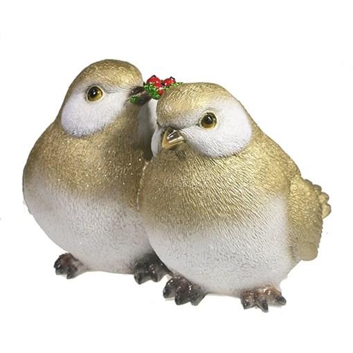 Фигура декоративная Птички цвет: золото L20W19.5H16.5см - фото 69293