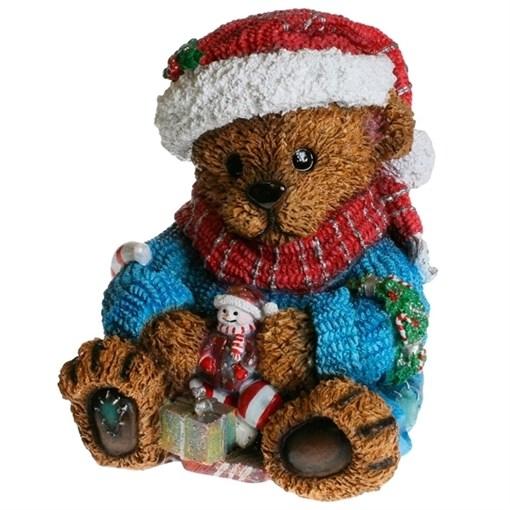 Фигура декоративная Медвежонок с подарком L21W21H24см - фото 69320