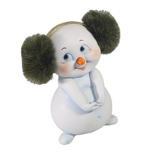 Фигура декоративная Снеговичок L6W7H10см - фото 69341