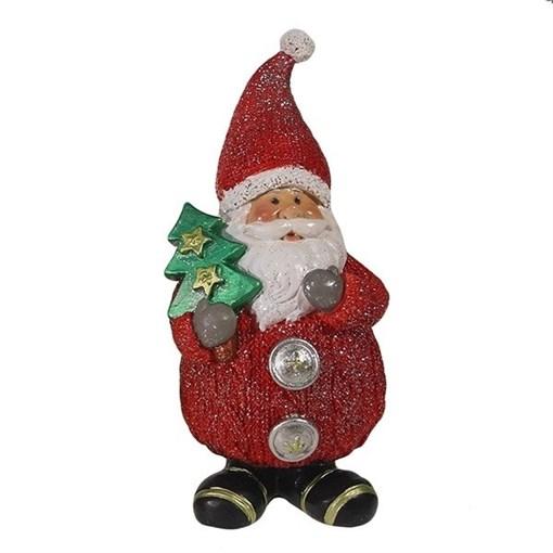 Фигура декоративная Дед Мороз с елочкой L7W6H16.5см - фото 69348
