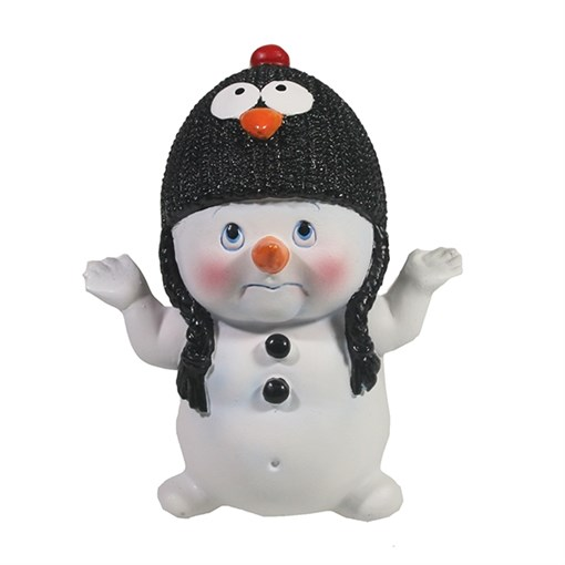 Фигура декоративная Снеговик L8.5W10.5H11.5см - фото 69394