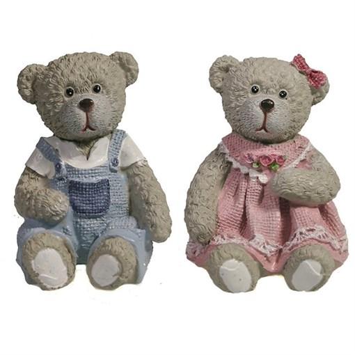Фигура декоративная Медведь в комбинезоне L5W5.5H5.5см - фото 69409