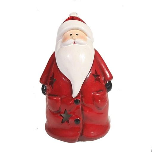 Фигурка декоративная Дед Мороз со светодиодной подсветкой Дед Мороз L11W9H15см - фото 69422