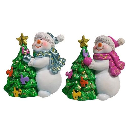 Фигура декоративная Снеговик и Елка L6.5W4.5H6см - фото 69428