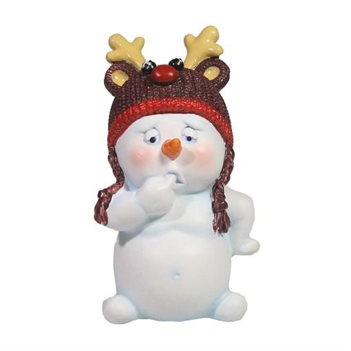Фигура декоративная Снеговик L8.5W7.5H11.5см - фото 69450