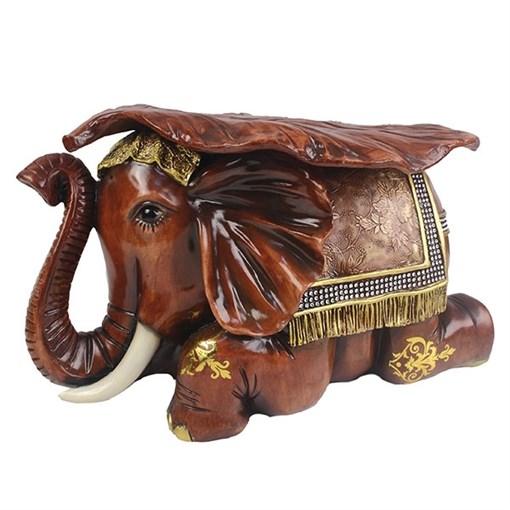 Изделие декоративное Слон цвет: красное дерево L50W31H30см - фото 69590