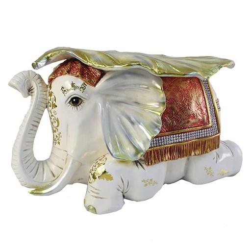 Изделие декоративное Слон цвет: слоновая кость L50W31H30см - фото 69591