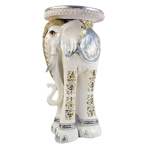 Изделие декоративное Слон цвет: слоновая кость L35W35H73.5см - фото 69593